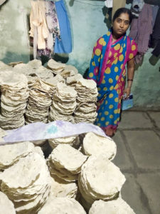 Muktha Bai sells about 5000 rotis per month and makes a net income of ` 10,000 per month.