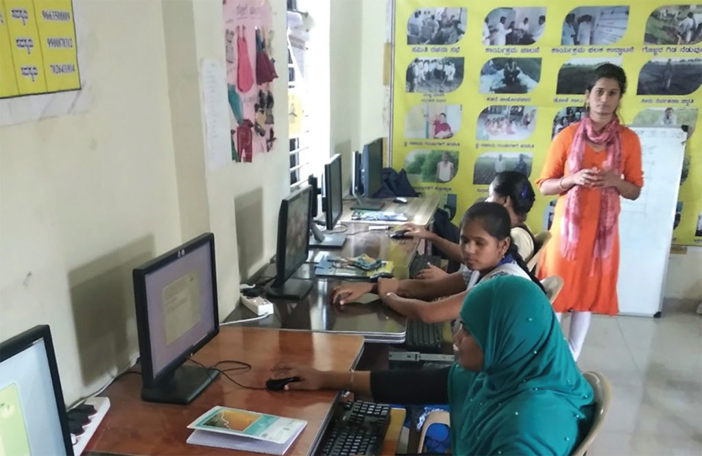 Bhagyashree has been playing the key role of a computer trainer and has trained two batches of more than 25 students in basic computer skills.
