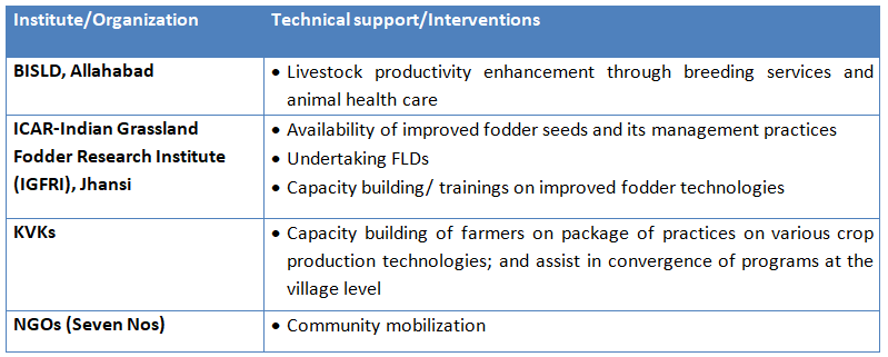Table 1. Consortium partners in dairy development and their role clarity