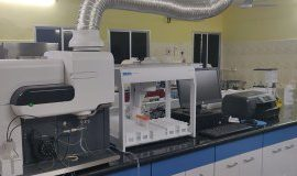 MP-AES equipment at the referral lab in Bhubaneshwar.