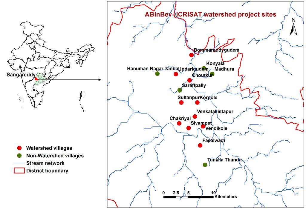 ABInBev-ICRISAT-Watershed-Sites-Charminar-Sangareddy
