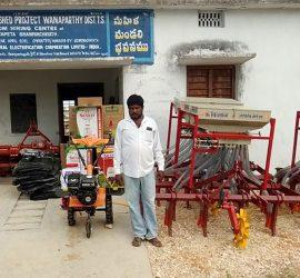 B Balaraj, caretaker of one of the custom hiring center. Photo: BISLD, NGO